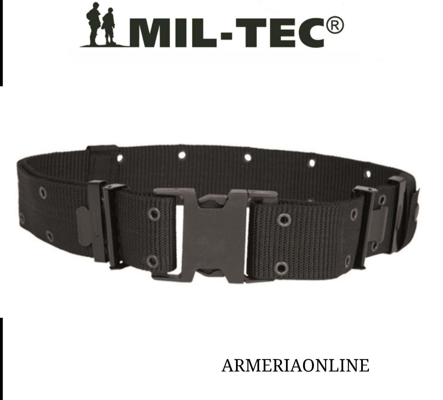Cintura in Paracord Militare MilTec NERA