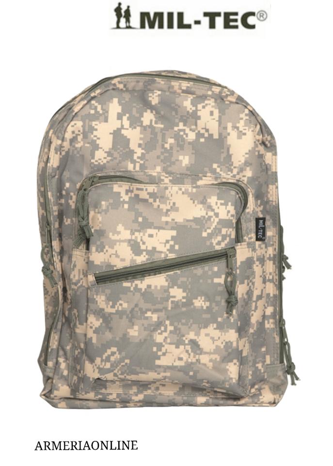 Zaino Zainetto da scuola elementare mimetico camouflage militare tempo libero